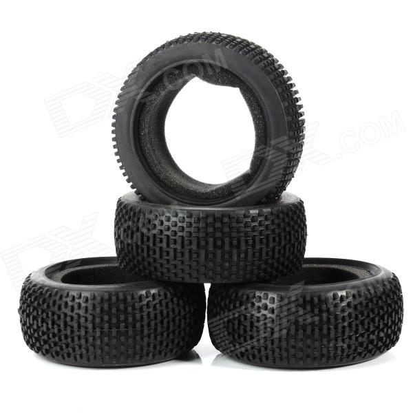T801 1/8 Off-road Vehicle Car Tire Tyres (4 PCS) 1 10 rubber on road racing car model replacement tire black 4 pcs