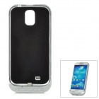 3200mAh Rechargeable External Battery Case for Samsung i9500 - Yellow + Silver + Black