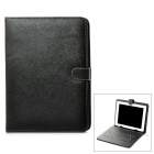 "Protective PU Bag w/ Stand + USB 2.0 Wired 80-Key Keyboard for 9.7"" Tablets - Black"
