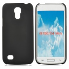 Stylish Protective Matte Frosted PC Back Case for Samsung Galaxy S4 Mini - Black