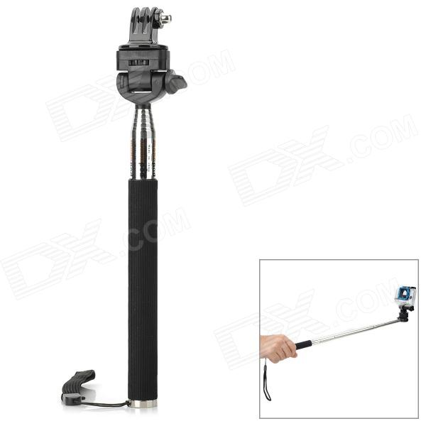 Handheld Aluminum Alloy Monopod w/ Tripod Mount Adapter for Gopro Hero 4/ 2 / 3 / 3+ / SJ4000 pannovo 4 section retractable handheld pole monopod for gopro hero 4 2 3 3 sj4000 black