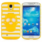 Stylish Skull Pattern Hollowed up Protective Light Back Case for Samsung Galaxy S4 i9500 - Yellow