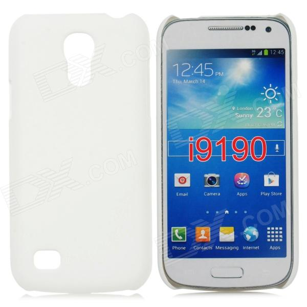 Stylish Protective Matte Frosted PC Back Case for Samsung Galaxy S4 Mini - White protective hollow out matte pc back case for samsung galaxy s4 zoom sm c1010 blue