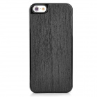 Newtop Wood Grain Protective Plastic + Wood Back Case for Iphone 5 - Black