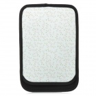 Protective Neoprene Pouch for Ipad MINI - Black + Light Green