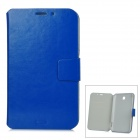 Protective PU Leather Case w/ Card Slot for Samsung Galaxy Tab3 P3200 - Blue