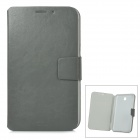 Protective PU Leather Case w/ Card Slot for Samsung Galaxy Tab3 P3200 - Light Olive Grey