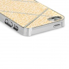 Cobblestones Design Protective Plastic Back Case for Iphone 5 - Golden