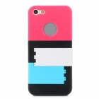Stylish Jalousie Style Protective Plastic Back Case w/ Holder for Iphone 5 - Multicolored