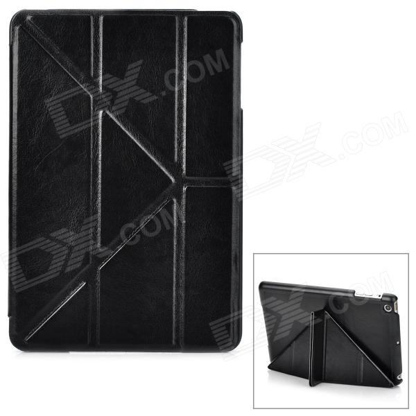 Classic Ultra Thin Protective PU Leather Smart Case w/ Folding Holder for Ipad MINI - Black classic smart cover