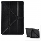 Classic Ultra Thin Protective PU Leather Smart Case w/ Folding Holder for Ipad MINI - Black