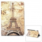 Retro Eiffel Tower Pattern PU Leather Smart Case w/ Holder for Ipad MINI - Yellow
