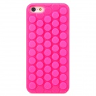 Bubbles Pattern Pressure Relief Plastic Back Case for Iphone 5 - Deep Pink