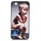 Ultra-thin Relief Boy Pattern Protective Plastic Matte Back Case for Iphone 5