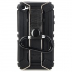 Newtop Outdoor Hiking Plastic + Metal Back Case w/ Quick Release Buckle for Iphone 4 / 4S - Black