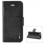 NEWTOP Protective PU Leather + Plastic Case for Iphone 5 - Black