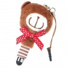 Bear Style Capacitive Screen Stylus Pen w/ Anti-Dust Plug / Screen Cleaner for Cell Phone - Brown
