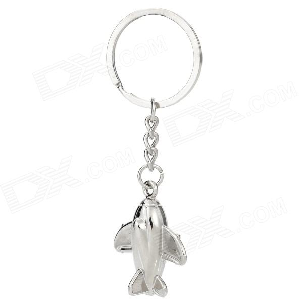 Airplane Style Zinc Alloy Keychain - Silver