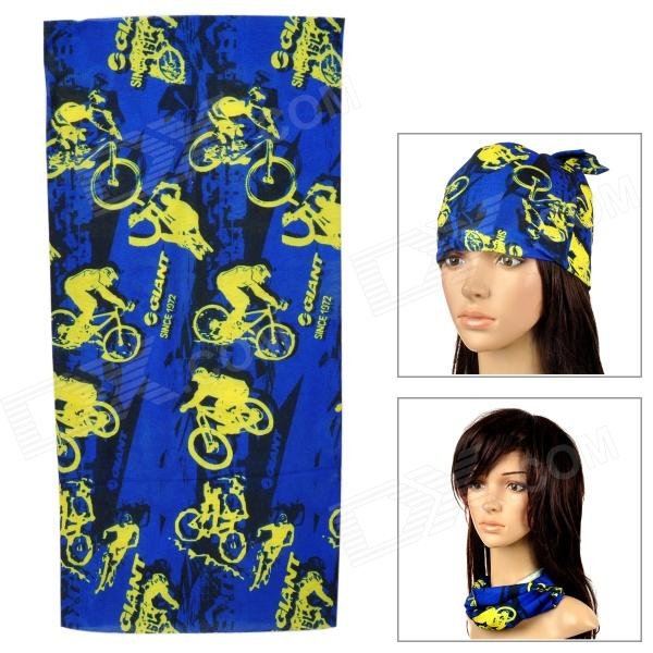 Fashionable Multifunctional Outdoor Quick-dry Polyester Fiber Headscarf / Hood - Yellow + Dark Blue