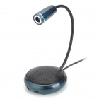 ZB-3330 USB2.0 1.3MP Webcam w/ Microphone Speaker - Deep Blue + Black