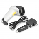 2.4GHz Wireless Handheld USB Barcode Laser Scanner - White + Black