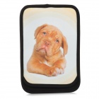 Dog Pattern Protective Neoprene Pouch for iPad Mini - White + Black + Brown