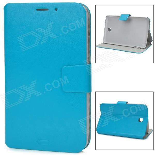 Protective PC + PU Leather Flip-Open Case for Samsung Galaxy Tab 3 / P3200 - Blue luxury flip stand case for samsung galaxy tab 3 10 1 p5200 p5210 p5220 tablet 10 1 inch pu leather protective cover for tab3