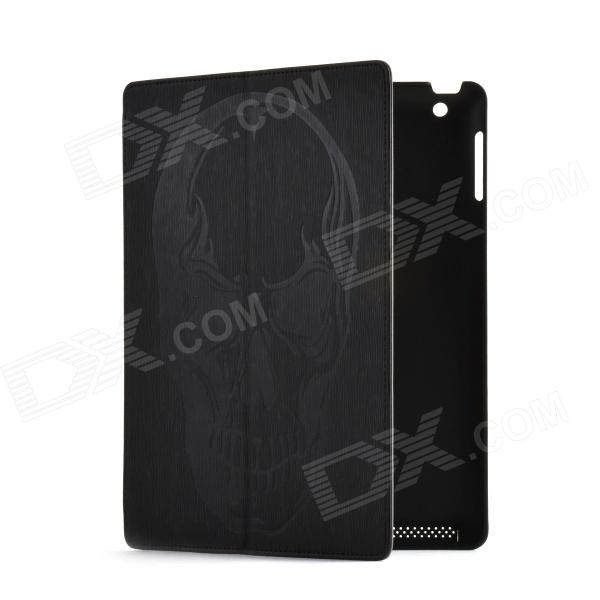 Cool Skull Pattern Protective PU Leather Case Stand for Ipad 2 / 3 / 4 - Black Washington Продажа б у товаров