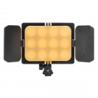 T12H Universal 12-LED Video Light for Canon + Nikon + More - Black