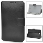 Protective PC + PU Leather Flip-Open Case for Samsung Galaxy Tab 3 / P3200 - Black