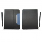 Protective PU Leather Case Cover Stand for iPad 2 / 4 / The New iPad - Black + Blue