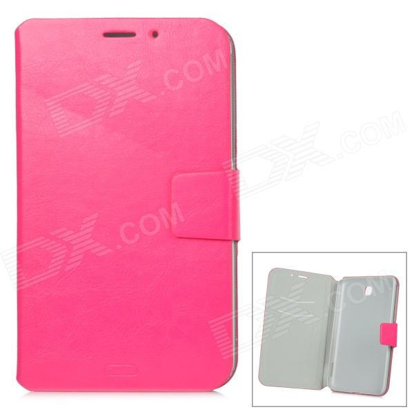 Protective PU Leather Case w/ Card Slot for Samsung Galaxy Tab3 P3200 - Deep Pink protective pu leather case w card slot for samsung galaxy tab3 p3200 deep pink