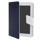 Stylish Protective PU Leather Case Cover Stand for Ipad 2 / 3 / 4 - Blue + White
