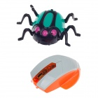 3:1 Delicate IR Remote Control Mini Wall Climber Spider Model Toy - Green + Black + Grey + Orange