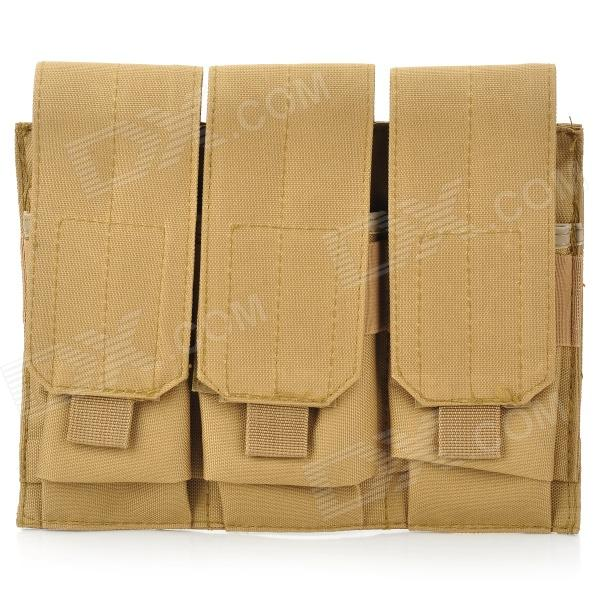 Triple Canvas Cartridge Clips Pouch for M4 - Coyote Tan
