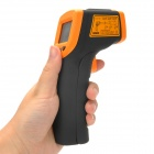 "Smart AR320 Non-Contact 1.2"" LCD Digital Infrared Gun Thermometer w/ Laser  - Black + Orange"