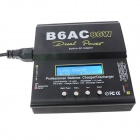 Lipo B6AC 80W Battery Balance Charger Adapter for RC Helicopter - Black (EU Plug / 100~240V)