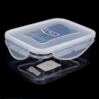 Hengyida Plastic Food Container - Transparent + White (0.55L)