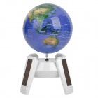 10B19 360 Degree Solar Powered Rotary Globe - White + Blue (1 x 7AA)