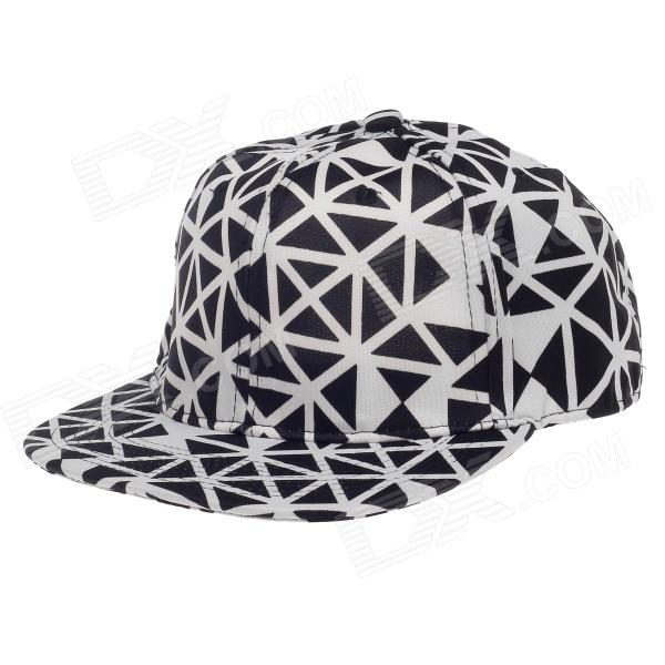 TIANFENG Fashionable Geometry Baseball Cap Hat - Black + White 2017 new high quality angelic wing baseball caps for men women black white devil wing snapback hats pu leather hip hop cap m105