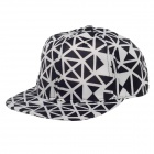 TIANFENG Fashionable Geometry Baseball Cap Hat - Black + White