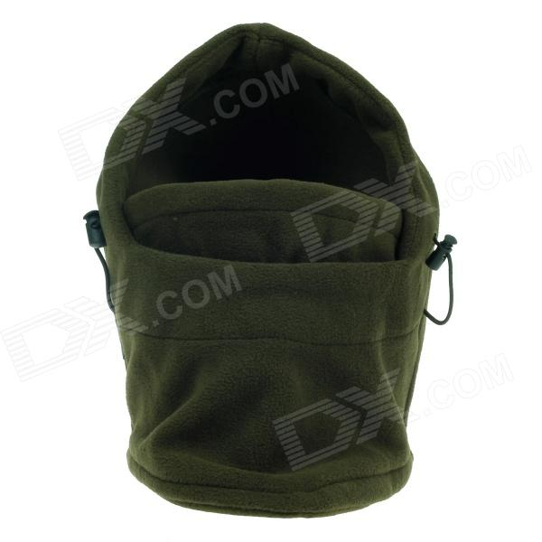 Outdoor Cold-Proof Wind-Proof Thickening Keep Warm Masked Velvet Cap - Blackish Green 6 kinds of functions windproof hoods masked cap black