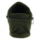 Outdoor Cold-Proof Wind-Proof Thickening Keep Warm Masked Velvet Cap - Blackish Green