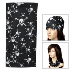 Skull Pattern Multifunction Outdoor Sports Head Scarf - Black + White