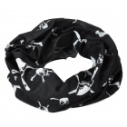 Skull Pattern multifunción Outdoor Sports Head Scarf - Negro + Blanco