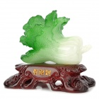 Lucky Chinese Cabbage Decoration - Green + White + Coffee