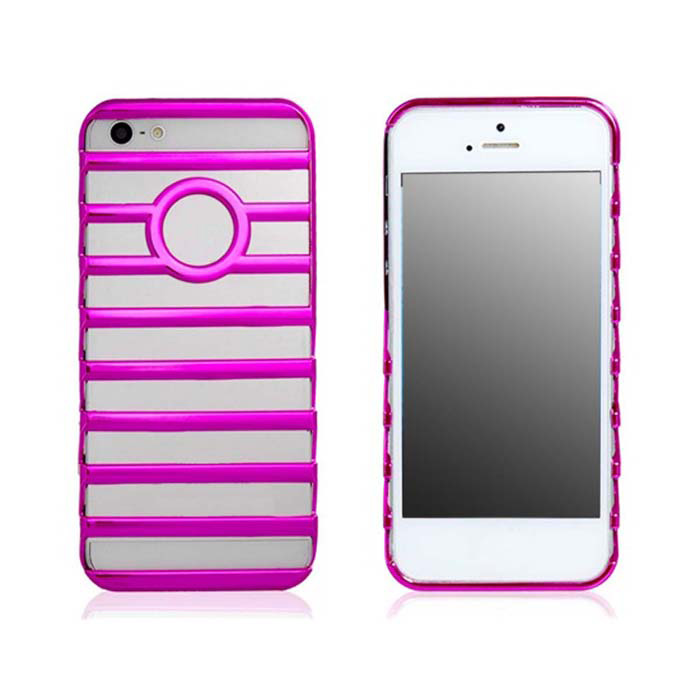 Hollow-out Ladder Style Protective Plastic Back Case for Iphone 5 - Deep Pink apple кожаный чехол для 10 5 дюймов ipad pro черный mpu62fe a