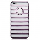Hollow-out Ladder Style Protective Plastic Back Case for Iphone 5 - Grey