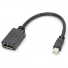 Mini Display Port Male to Display Port Female Cable for MacBook / MacBook Pro / MacBook Air - Black