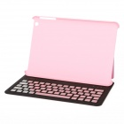 E-118 Bluetooth V3.0 61-Key Keyboard w/ Protective PU Leather Case Cover for Ipad MINI - Pink